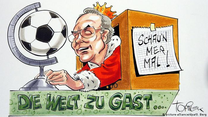 Bildergalerie Franz Beckenbauer 70. Geburtstag - Karikatur