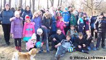 Ukraine Kinder aus der Stadt Debalzevo