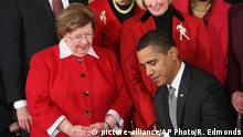 USA Senatorin Barbara Mikulski und Obama