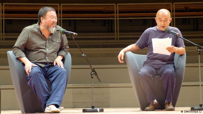 Deutschland Berliner Literaturfestival Ai Weiwei Liao Yiwu