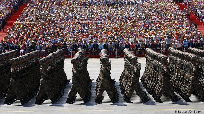 China Militärparade in Peking 70. Jahrestag Ende 2. Weltkrieg Bildergalerie