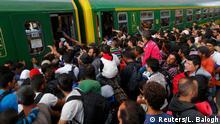 Ungarn Flüchtlinge am Bahnhof Keleti Budapest