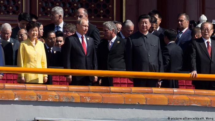 China Militärparade in Peking 70. Jahrestag Ende 2. Weltkrieg Putin Bildergalerie