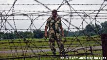 Die Grenze zwischen Indien und Bangladesch