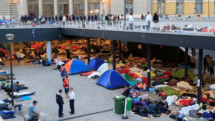 Мигранты в Будапеште