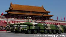 China Militärparade in Peking 70. Jahrestag Ende 2. Weltkrieg