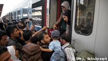 Flüchtlinge Bahnhof Budapest