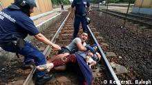Ungarn Bicske Flüchtlinge Polizei Verhaftung Familie