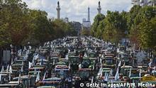 Paris Bauernprotest Traktoren Innenstadt