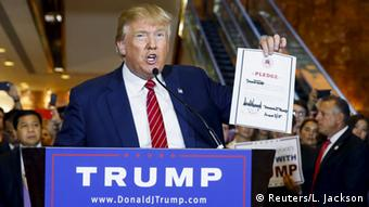 New York Donald Trump Republikaner Treuschwur