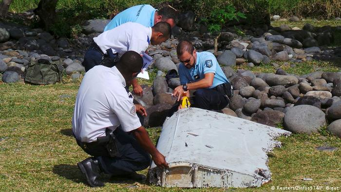 On 29 July 2015, a wing flap about two meters long washed up on the tropical French island of La Reunion. The wreckage was subsequently identified as part of the missing Boeing 777. Other possible pieces of wreckage have been found in Tanzania, Mozambique, South Africa and on the island of Mauritius.