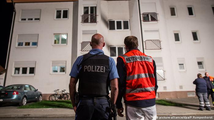 Heppenheim Brand Asylbewerberheim Unterkunft Feuer Polizei Rettungssanitäter