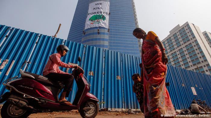 Greenpeace activists in Mumbai