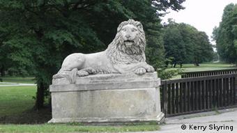 Lion sculpture in Vienna park Laxenburg bei Wien (Photo: Kerry Skyring)