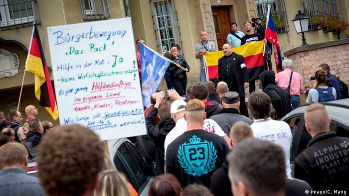 Deutschland Asylgegner Demo in Heidenau