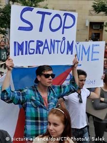 Διαμαρτυρία κατά των προσφύγων στην Τσεχία