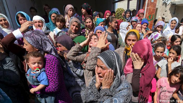 Syrien Kobane Beerdigung Aylan Kurdi Trauer Angehörige