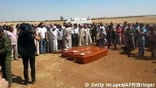 Syrien Kobane Beerdigung Aylan Kurdi Trauer Angehörige UNSCHARFE QUELLE