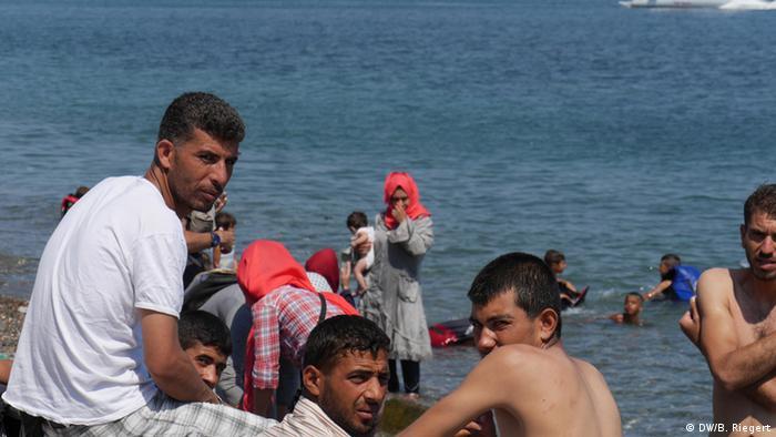 Griechenland Kos Migration Flüchtlinge ein Gruppe syrischer Männer