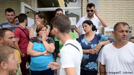 Deutschland Flüchtlinge aus Albanien in Ingelheim (Getty Images/T. Lohnes)