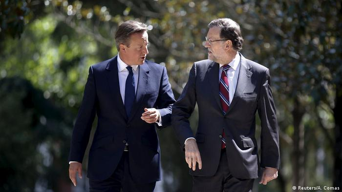 Madrid David Cameron bei Rajoy