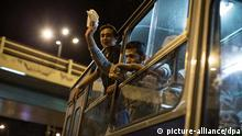 Flüchtlinge in ungarischem Bus