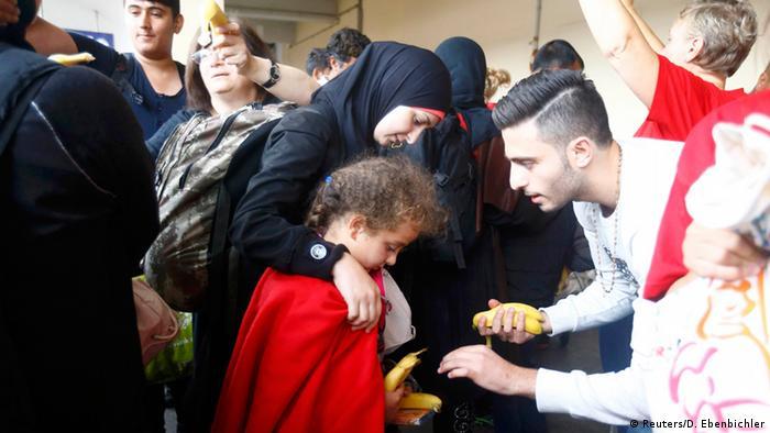 Österreich Ankunft Flüchtlinge aus Ungarn