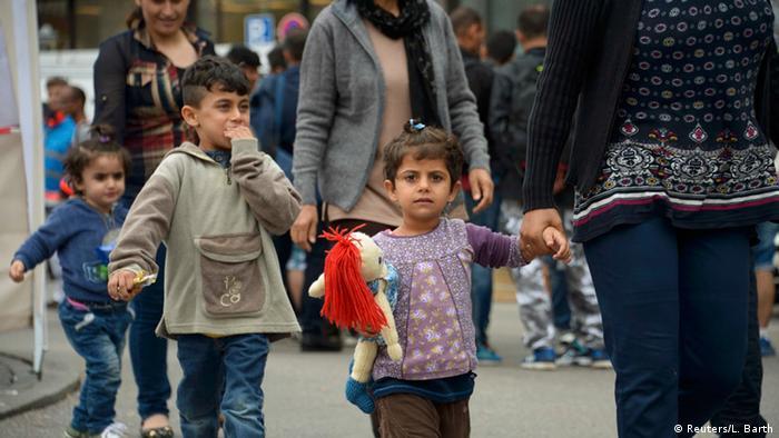 Deutschland Ankunft Flüchtlinge in München