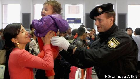 Refugees at Munich's main train station