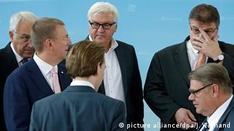 O Φρανκ Βάλτερ Σταϊνμάιερ με τους ομολόγους του στο Λουξεμβούργο