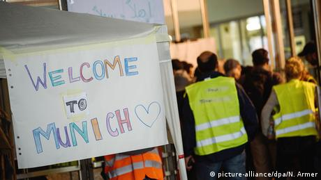 Sign saying Welcome to Munich