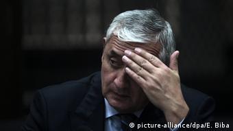 El expresidente Otto Perez, acusado de corrupción.