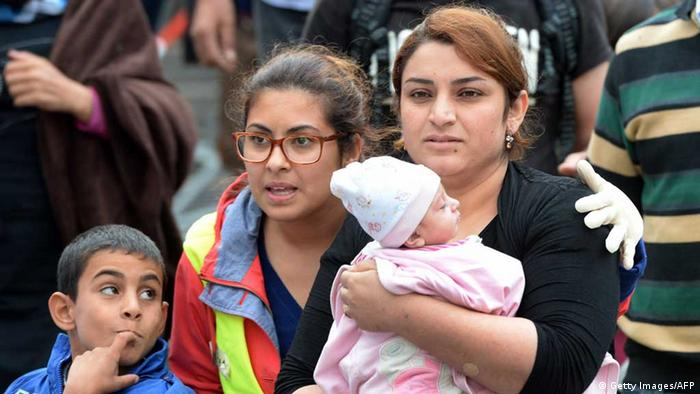 Flüchtlinge bei der Ankunft in München