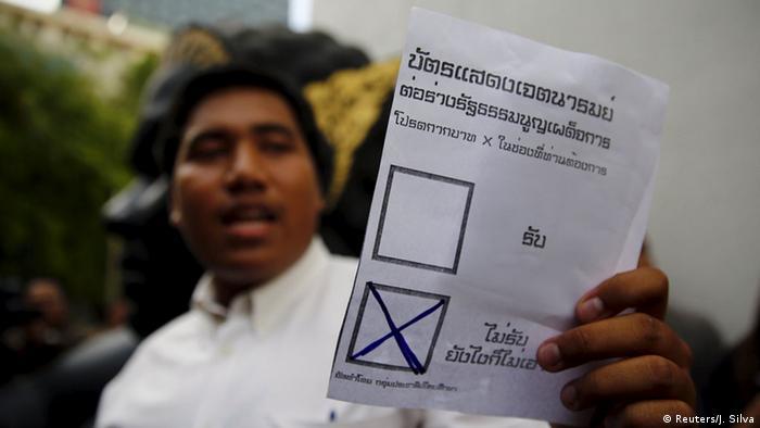Thailand Reformrat Verfassungsentwurf Gegner