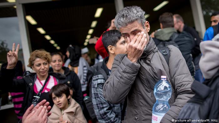 Прибытие беженцев в Дортмунд