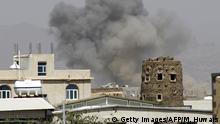 Saudi-arabische Luftangriffe im Jemen Sanaa