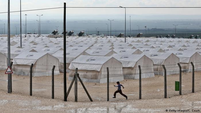 Турция, город Суруч. Лагерь для приема беженцев.