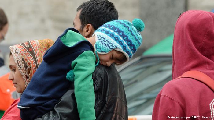Refugees arriving in Munich