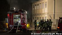 Deutschland Brand in Flüchtlingsunterkunft Rottenburg am Neckar