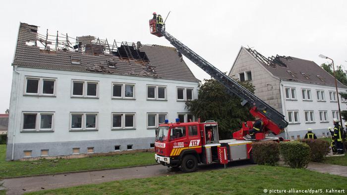 Deutschland Brand in künftiger Flüchtlingsunterkunft Ebeleben