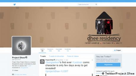 Screenshot Twitter Project Dhee