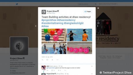 Screenshot Twitter Project Dhee