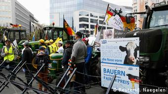 EU Proteste der Bauern wegen dem Milchpreis in Brüssel