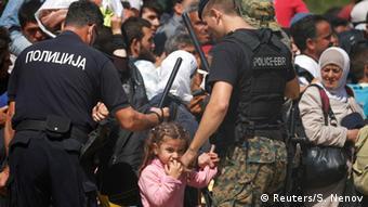 Mazedonien Flüchtlinge in Gevgelija