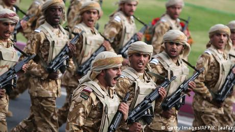 Katar Soldaten Parade zum Nationalfeiertag (Getty Images/AFP/K. Jaafar)