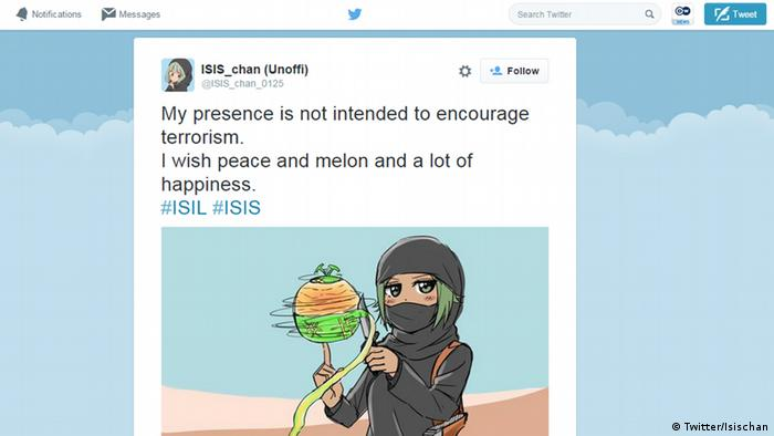 Twitter Screenshot ISIS Chan IS