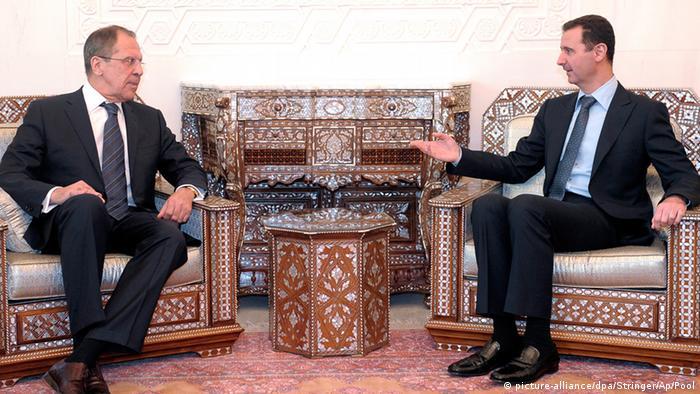 Syrien Sergej Lawrow und Bashar Assad in Damaskus