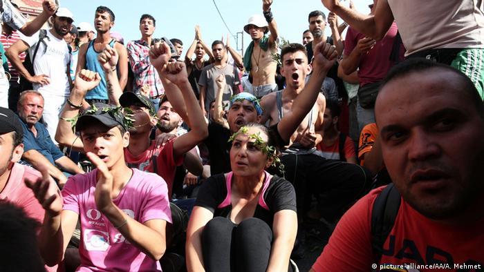 Griechenland Flüchtlinge auf der Insel Lesbos