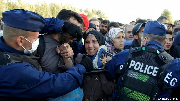 Ungarn Flüchtlinge in Röszke