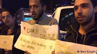 München Deutschland Flüchtlinge sagen Danke Bayern